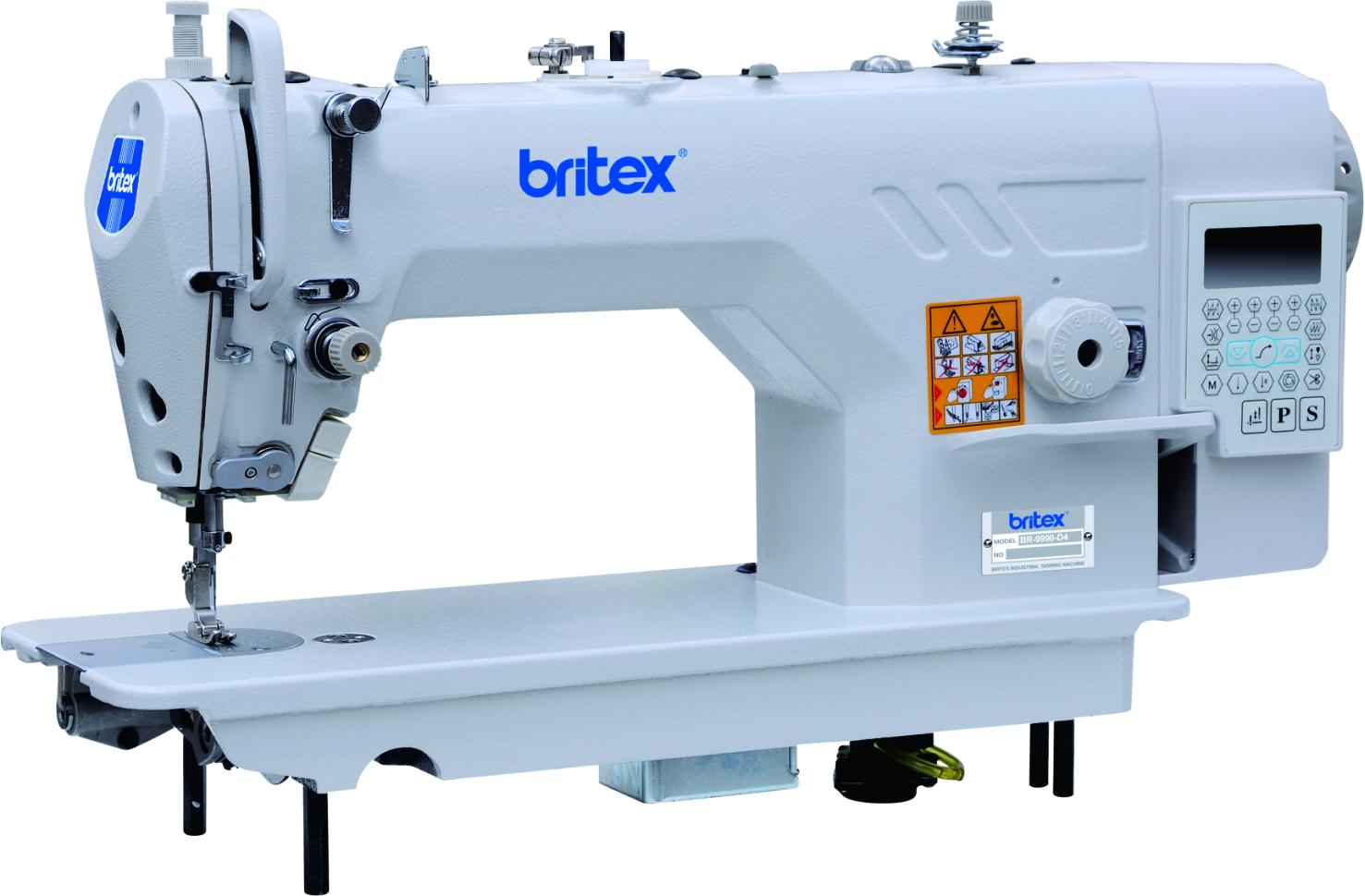 Máy may 01 kim điện tử, cắt chỉ tự động - Hiệu: Britex, Model: BR-9910-D3.