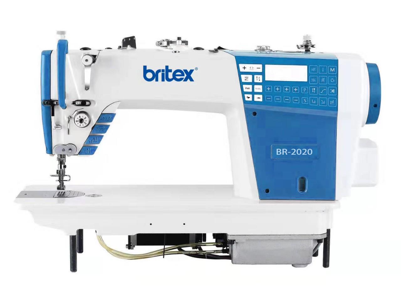 Máy may 01 kim điện tử dầu kín, cắt chỉ  và Nâng Chân Vịt tự động bằng moto bước - Britex, Model: BR-2020