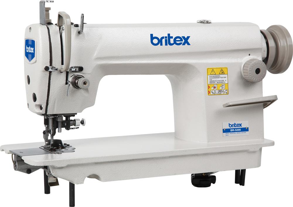 Máy may 01 kim, xén, bàn lừa dạng Needle Feed, mo tơ liền trục - Hiệu Britex, Model: BR-5200D