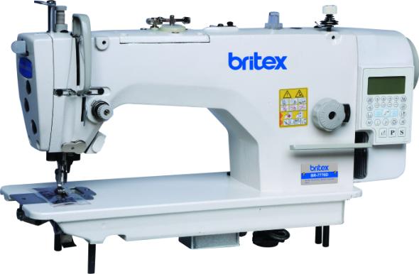 Máy may 01 kim Điện Tử, Xén Phải, Cắt Chỉ nâng chân vịt tự Động, Bàn lừa Needle Feed - Britex, BR-7770-D4.