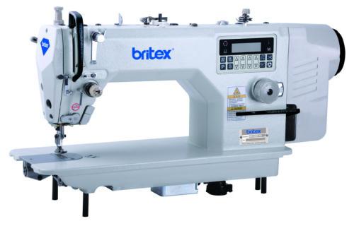 Máy may 01 kim điện tử nâng chân vịt cắt chỉ tự động, màn hình điều khiển đèn LED - Britex, Model: BR-8888-D4