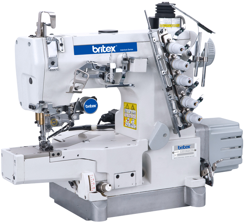 Direct drive high-speed Cylinder-bed interlock sewing machine with auto trimmer - Brand: Britex, Model: BR-600-01CB-UT