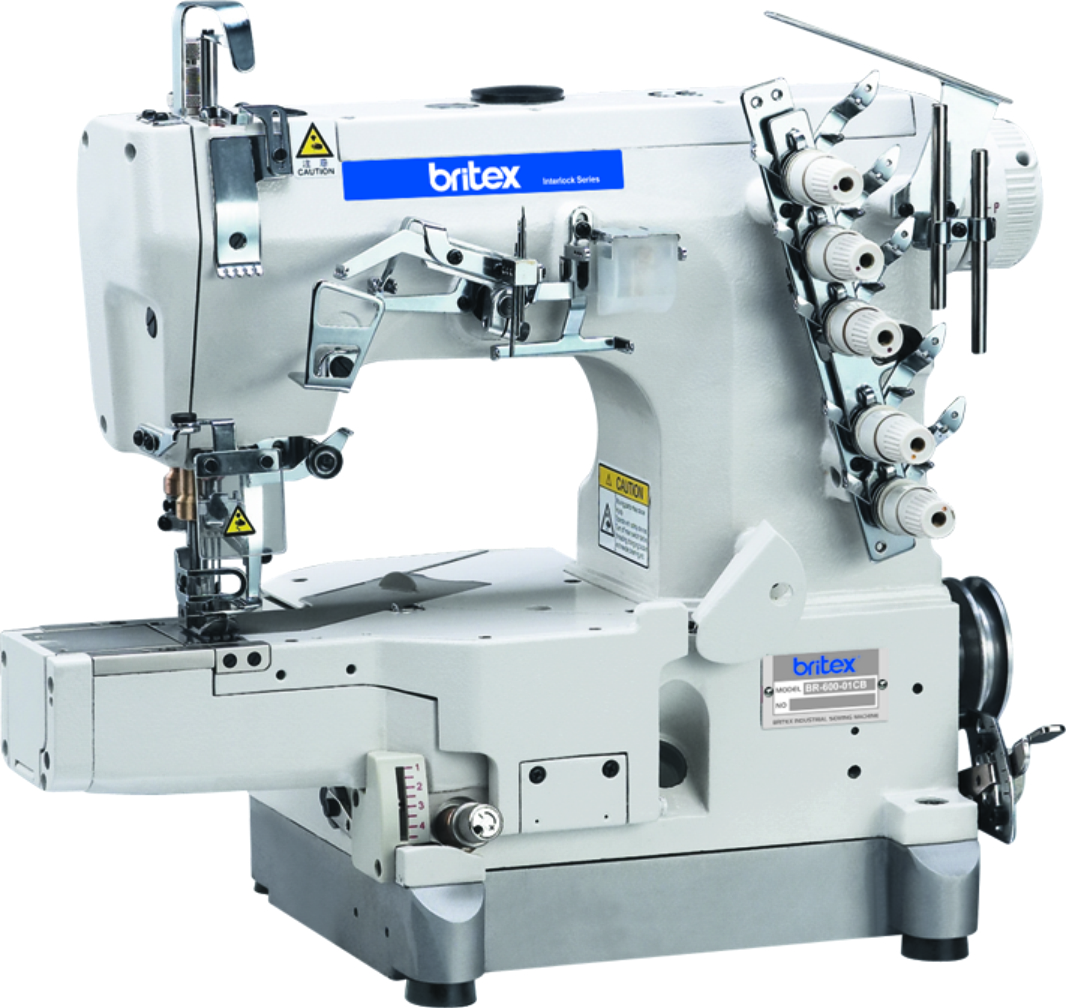 Industrial High Speed Cylinder-bed interlock sewing machine - Brand: Britex, Model: BR-600-01CB.