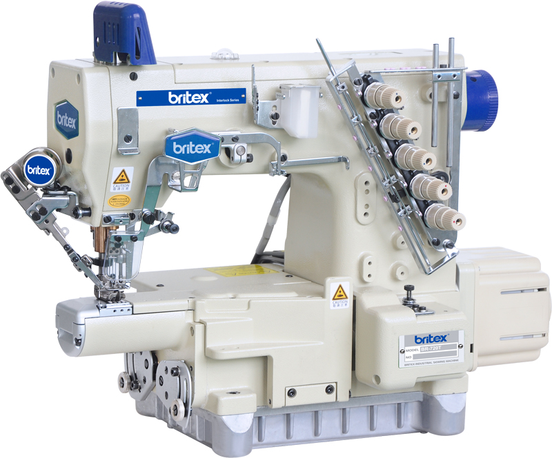 Direct drive high-speed Small Cylinder-bed interlock sewing machine with Auto trimmer - Brand: Britex, Model: BR-720T/UT