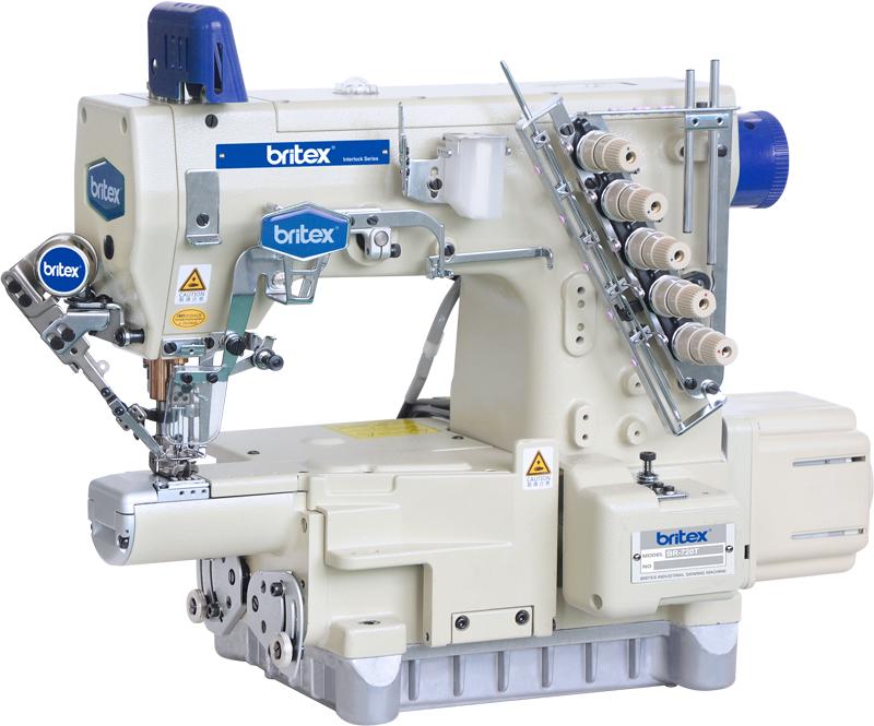 Máy may công nghiệp Viền Túm Bo tay Điện Tử, Cắt Chỉ tự Động, 02 kim 04 chỉ - Hiệu: Britex, Model: BR-720T/UT.