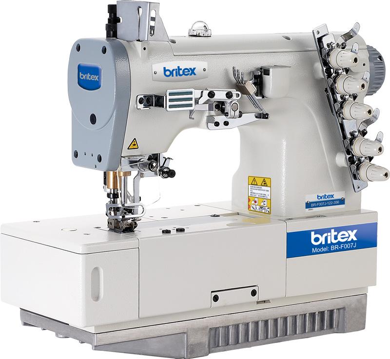 Máy may công nghiệp Viền Bằng 03 kim 05 chỉ - Hiệu: Britex, Model: BR-F007J.