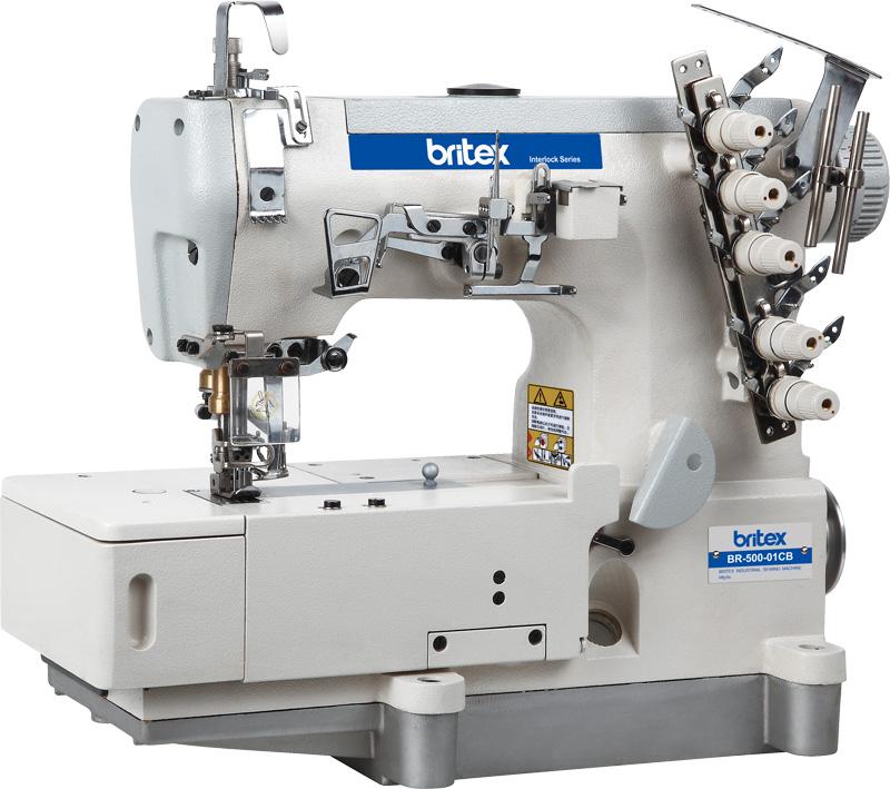 Máy Viền Bằng 03 kim 05 chỉ liền trục - Hiệu: Britex, Model: BR-500D-01CB