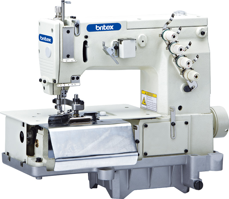 Double Needle Flat-bed Belt Loop with Front Fabric Cutter (The Width of Belt Loop) - Brand: Britex, Model: BR-2000.