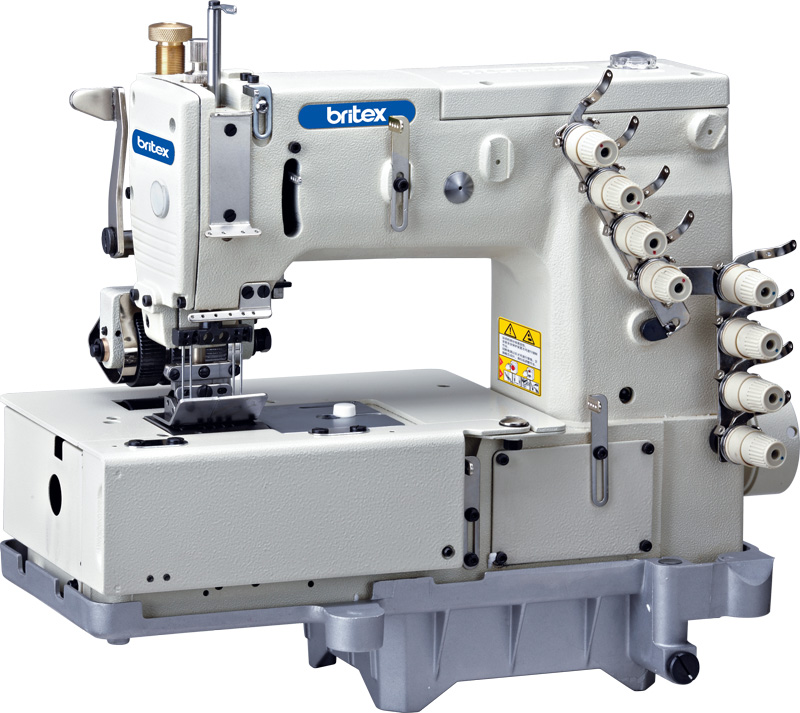 Flat-bed Double Chain Stitch, Multi-Needle Machine with Horizontal Looper Movement Mechanism - Brand: Britex, Model: BR-1508P.
