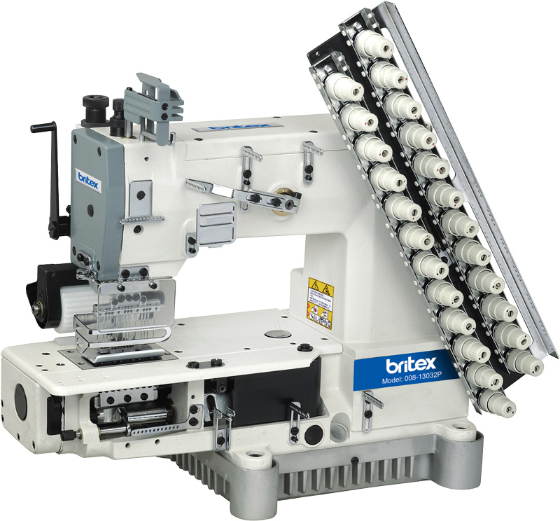 Multi-Needle Cylinder Bed Double Chain stitch Sewing machine - Brand: Britex, Model: BR-008.
