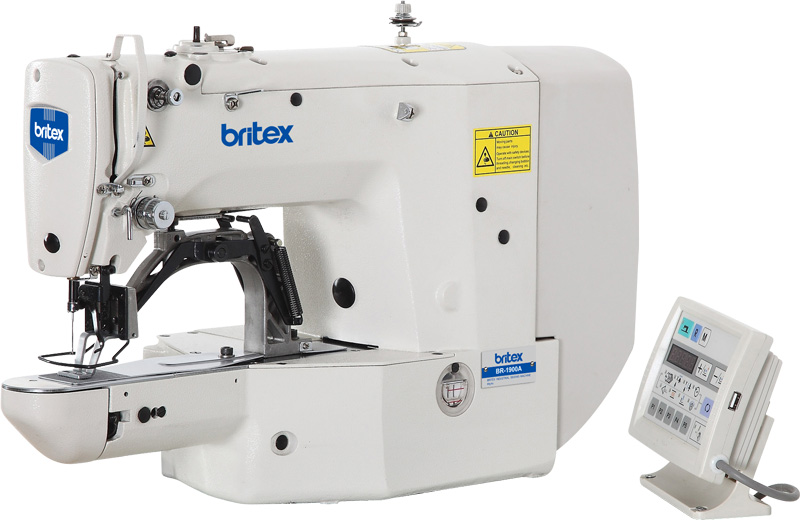 Direct Drive Electronic High Speed Bar Tacking Sewing Machine - Brand: Britex, Model: BR-1900A.