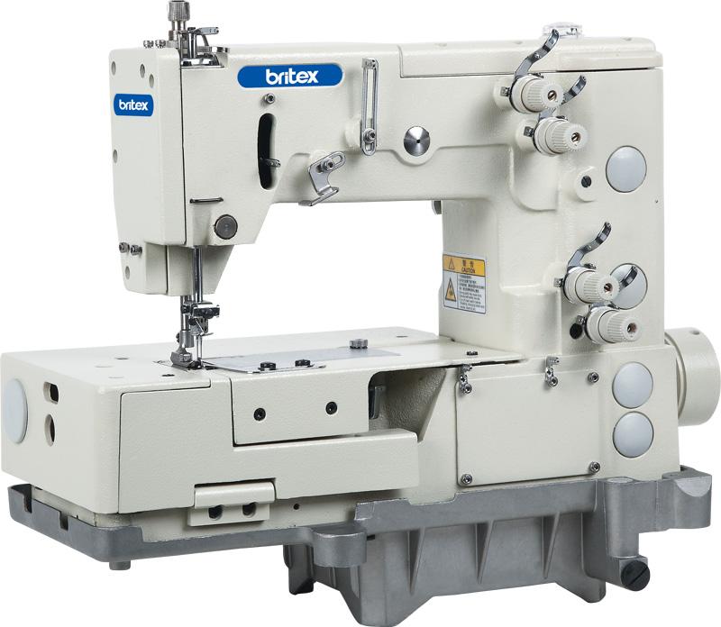 Máy may công nghiệp 02 kim - mũi zigzag chuỗi vòng 04/05 bước - Hiệu: Britex, Model: BR-1302-4W/5W.