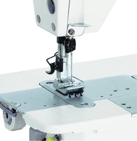 High Speed Two needle Chain Stitch Sewing Machine - Brand: Britex, Model: BR-3800-2 / BR-3800D-2.