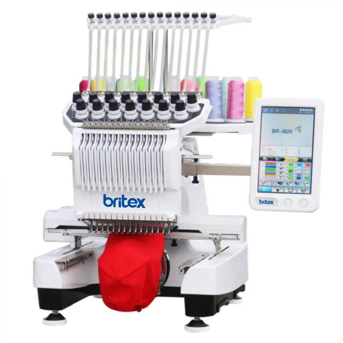 BR-3620 New Type Single Head 15 Needles Dahao New A15 Computerized Embroidery Machine - Hiệu Britex, Model: BR-3260