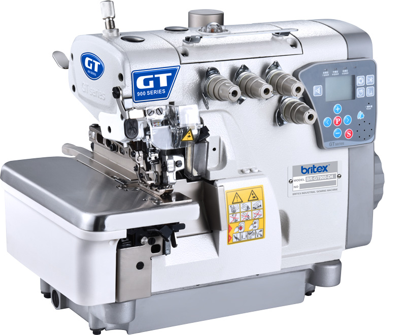 Five Threads Full Automatic Computerized overlock stitch Sewing machine, new Design - Britex Brand, Model: BR-GT900-5UT