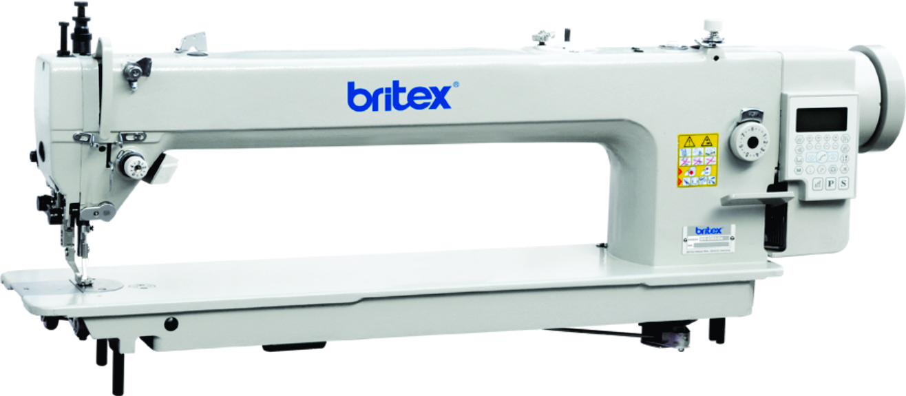 Long Arm Top and Bottom Feed Automatic Lock Stitch sewing machine, Mainboard Quixing - Brand Britex, Model: BR-0303-85-D4