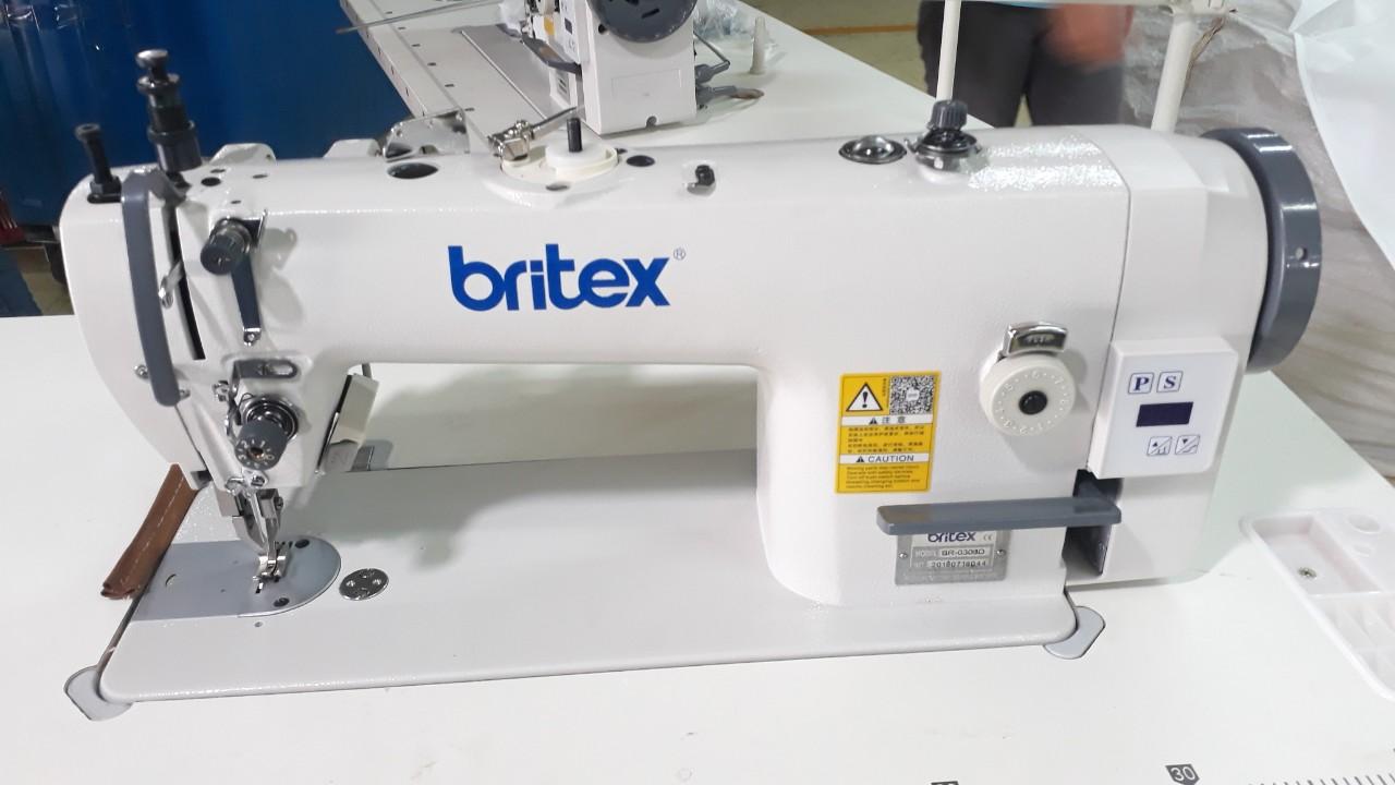 Top and Bottom Feed Direct drive Lock Stitch sewing machine - Brand Britex, Model: BR-0303D.