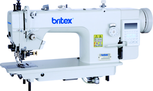 Top and Bottom Feed Automatic Lock Stitch sewing machine with edge cutter, Mainboard Quixing - Brand Britex, Model: BR-0352-D4