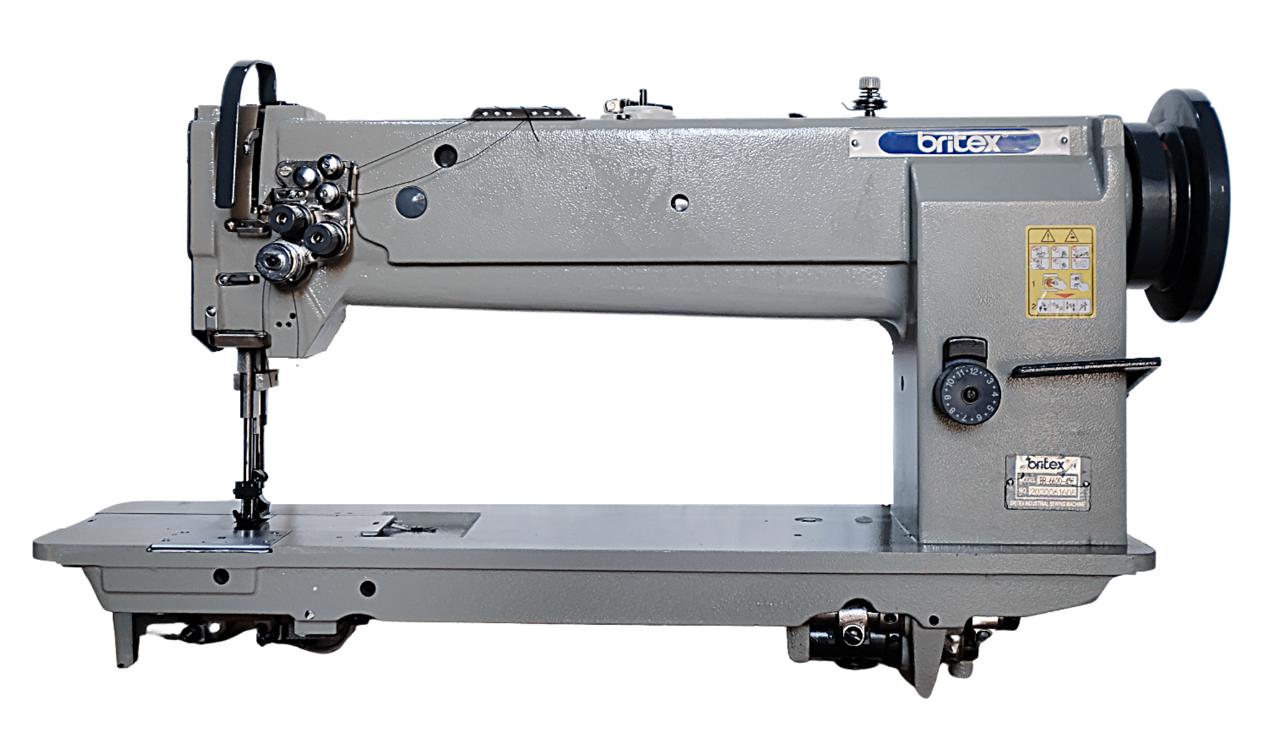 Máy may công nghiệp 02kim (cố định), ổ ngửa, bàn lừa dạng Unison/Compound Feed - Hiệu Britex, Model: BR-20628. - copy